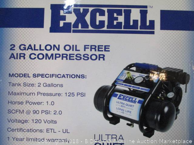 bidrl com online auction marketplace bulk excell air compressor